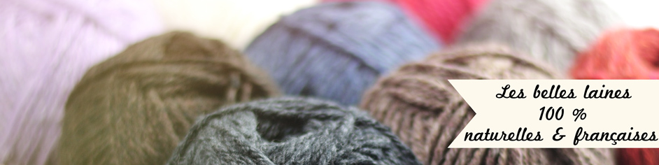 Laine à tricoter naturelle française