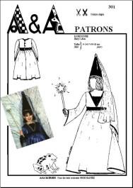 Patron couture robe de princesse fée enfant