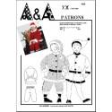 Patron de déguisement Habit de père Noël ou de petit lutin P408