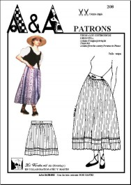 "DRESS ""raubo marsiheso"" PETTICOAR ""lou coutihoun de dessouto"" P208"