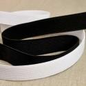 Elastique cotelé de 10 à 50 mm blanc ou noir