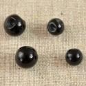 Bouton perle boule noir 8 ou 10 mm sur pied