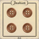 Bouton bois brun 15 mm