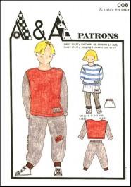 Sweat-shirt, pantalon de jogging et jupe P008