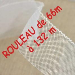 Rouleau de Bande de crin nylon blanche 4,3 mm à 100 mm