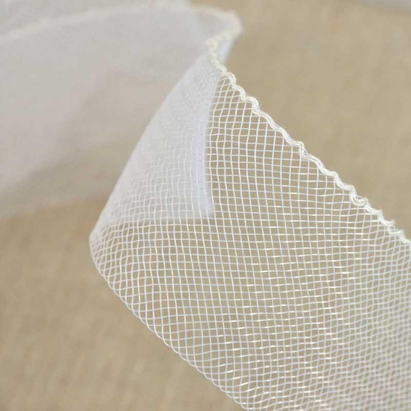 Bande de crin nylon 50 mm blanche a a patrons - Bande collante pour ourlet ...