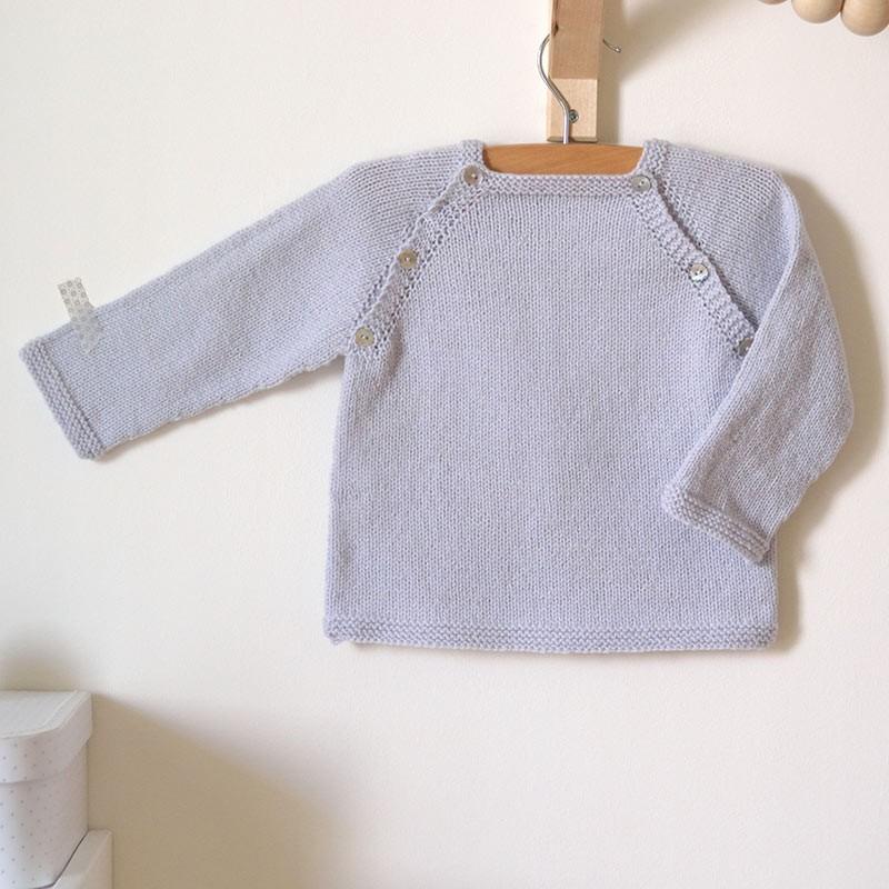 kit tricot b b d butant facile pull lucien en top down laine fran aise a a patrons. Black Bedroom Furniture Sets. Home Design Ideas