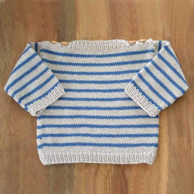 modele tricot bebe mariniere