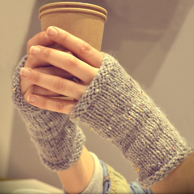 Modèle tricot mitaines minute en Super tweed - A&A Patrons