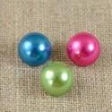 Bouton perle demi-boule bleu, rose ou vert 9 mm sur pied