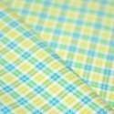Tissu toile à carreaux jaune