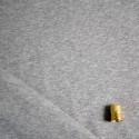 Maille sweat coton gris chiné BIO