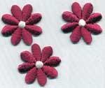 Application brodée petites fleurs