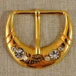 Boucle de ceinture métal doré et strass