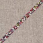 Biais à fleurs rouge framboise et vert Lecien Froufrou