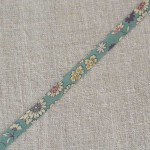 Biais à fleurs bleu vert Lecien Froufrou