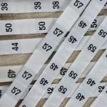 Etiquette de taille numérotées de 1 à 68 pour marquer les vêtements