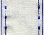 Galon à broder lin bordé d'un ruban tissé 7,4 cm