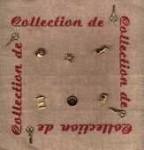 Collection de 10 boutons dorés thème couture