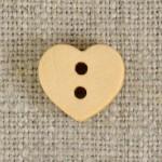 Bouton bois coeur