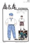 Patron du pantalon, bermuda et casquette pour enfant à coudre