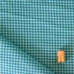 Tissu cotonnade imprimé à carreaux bleu