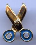 Ciseaux bleus et dorés (charm)
