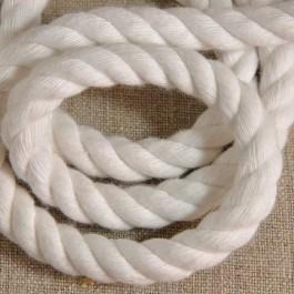 Cordelière blanche coton 10 mm