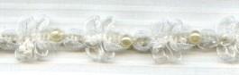 Galon organza et perles