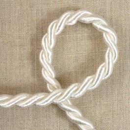 Cordelière blanche coton et viscose 9,5 mm