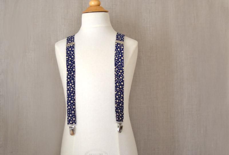DIY: adjustable stars suspenders finished