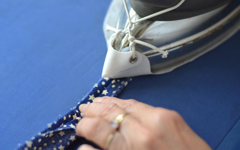 Repasser à plat la couture