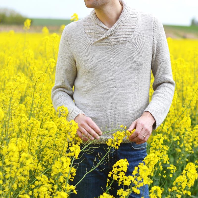 Pullover knitting pattern for men Manu