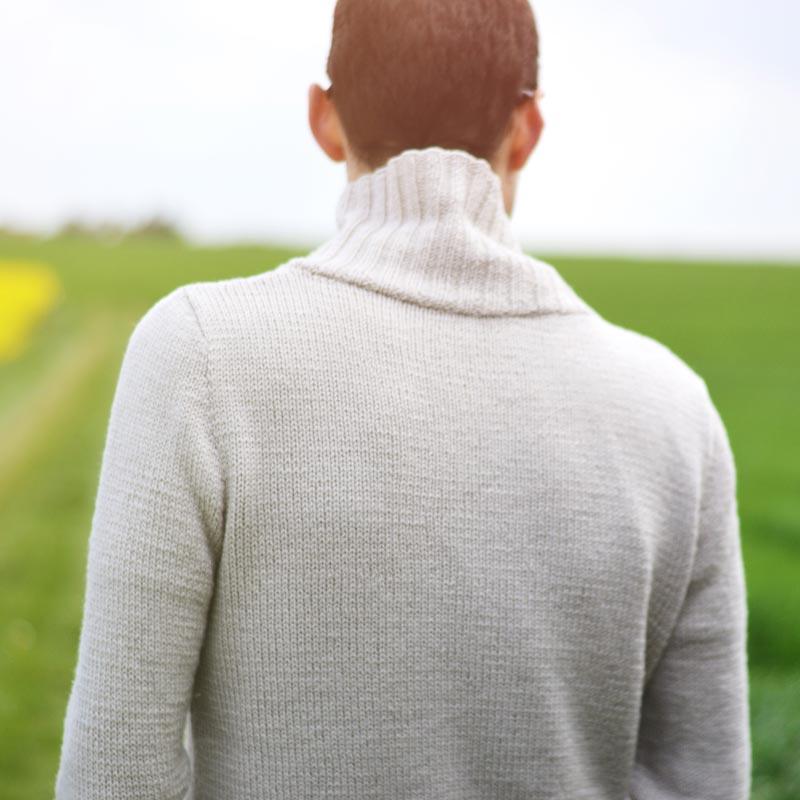 Knitting pattern sweater shawl collar