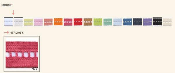 coloris jour échelle