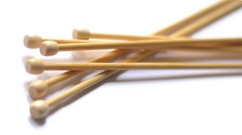 knitting needles wood, bamboo or birch
