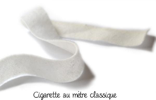cigarette couture au mètre blanche