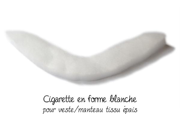 cigarette couture en forme blanche