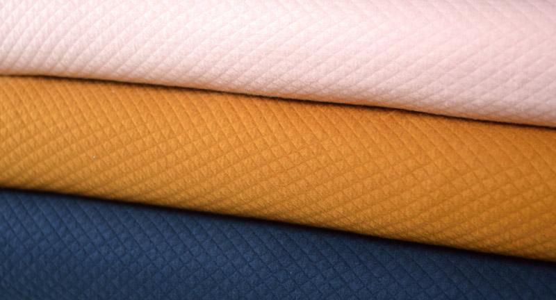 Jersey matelassé en coton bio