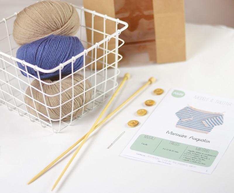 child breton sweater knitting kit