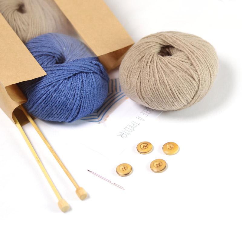 baby breton striped sailor sweater Augustin knitting kit