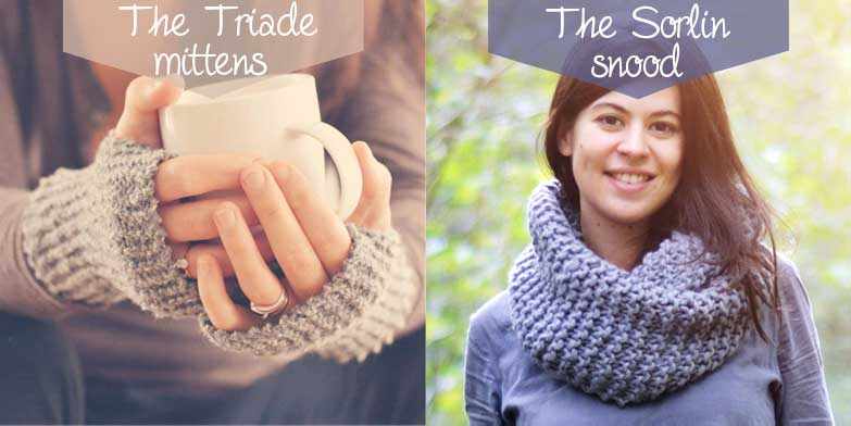 Beginners Snood and Mittens knitting kits