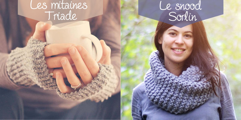 kit tricot mitaine et snood debutant