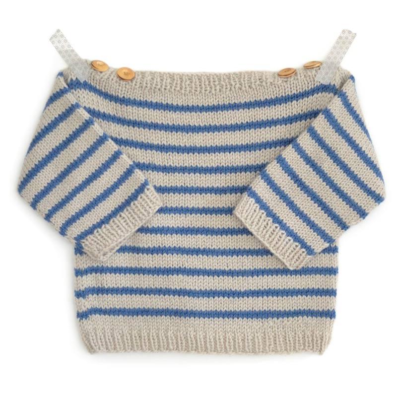 Kit tricot bébé pull