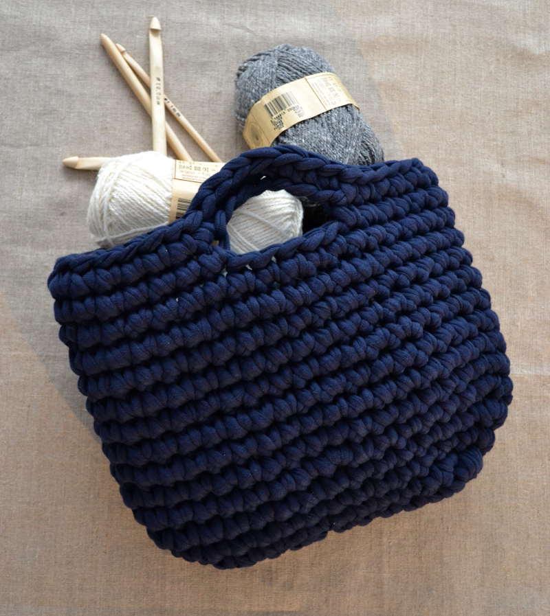 tricoter un sac zpagetti