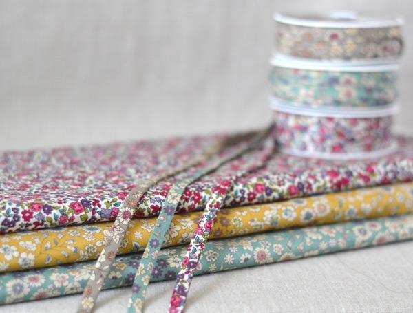 floral fabrics and bias Lecien Froufrou