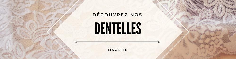 dentelles élastique lingerie couture
