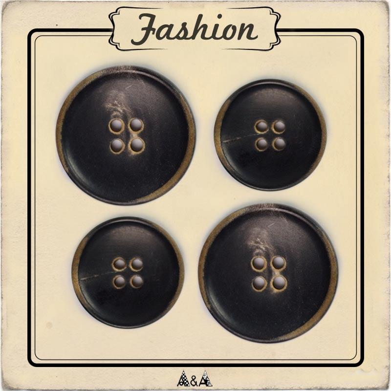 Bouton corne pour manteau et veste d'hiver - A&A Patrons