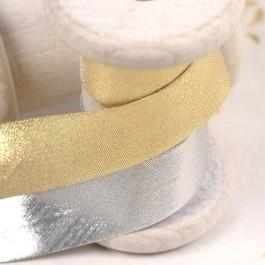 Biais doré ou argenté lurex