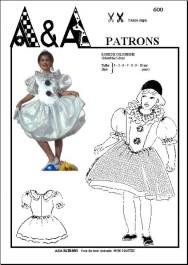 patron à coudre robe de princesse colombine enfant